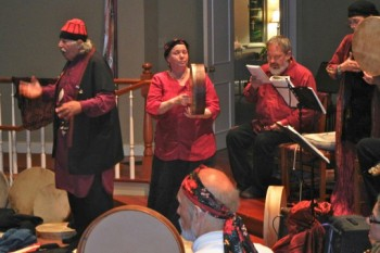 Sherif Baba and musicians at Seattle retreat